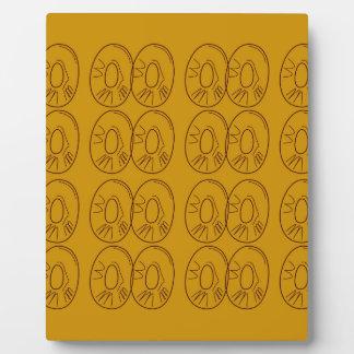Design lemons gold vintage plaque