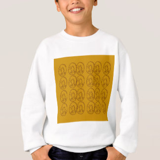 Design lemons gold vintage sweatshirt