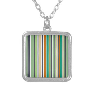 Design lines bamboo silver plated necklace