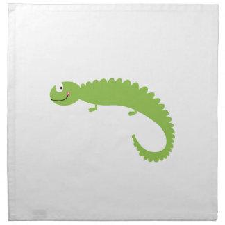 Design Lizard green on white Napkin