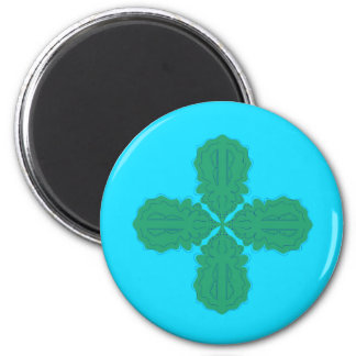 Design Mandala blue bio Magnet