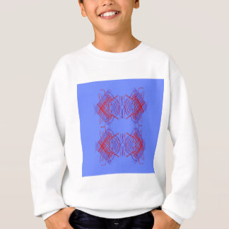 Design mandala blue  red sweatshirt