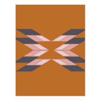 Design mandala ECO BROWN Postcard