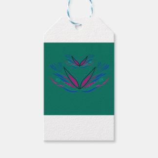 Design mandala Ethno Green Gift Tags