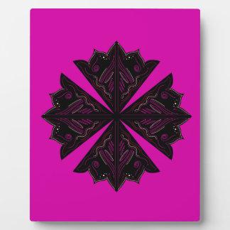 Design mandala ethno Pink Plaque