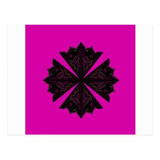 Design mandala ethno Pink Postcard