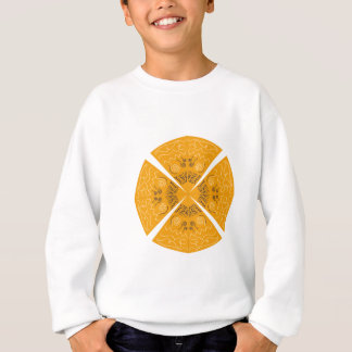 Design mandala Gold on white Sweatshirt