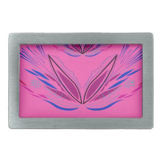 Design mandala sweet Pink Rectangular Belt Buckle
