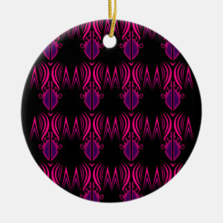 Design mandalas pink black ceramic ornament