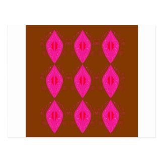 Design mandalas pink choco postcard