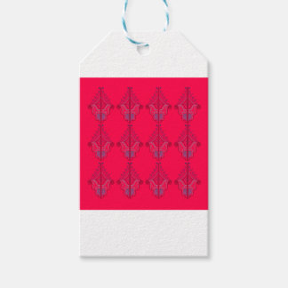 Design mandalas wild  red gift tags