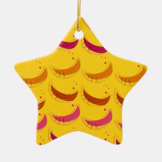 Design melons on Gold Ceramic Ornament