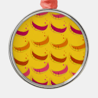 Design melons on Gold Metal Ornament
