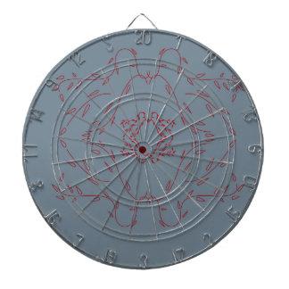 Design monogram delicious Love  Red Dartboard