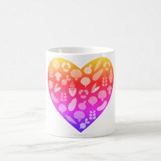 Design mug with Pink vegetable heart