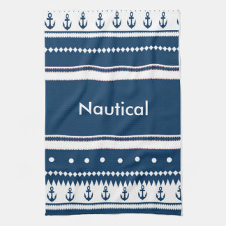 Design nautical tea towel
