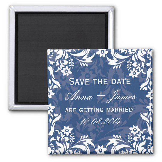 DESIGN No.2 Save the date magnet - NAVY