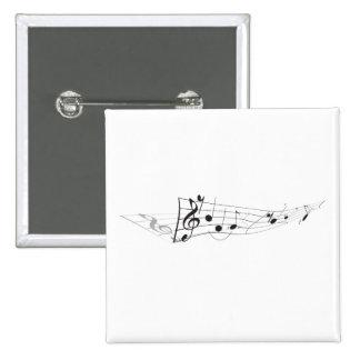 Design Of A Twisting Musical Score 15 Cm Square Badge
