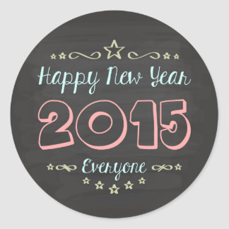 Design of congratulation of New Year Round Sticker