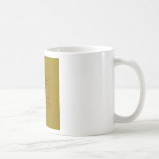 Design ornaments olive dark coffee mug