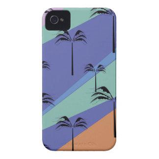 Design palms exotic blue Case-Mate iPhone 4 case