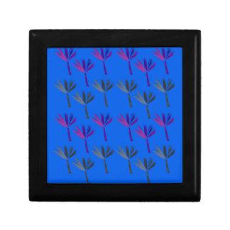 Design palms exotic blue gift box