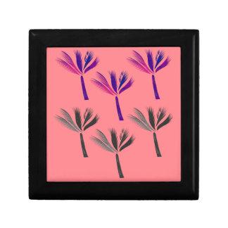 Design palms pink gift box