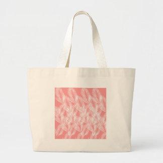 Design palms pink white exotico large tote bag