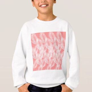 Design palms pink white exotico sweatshirt