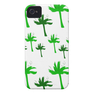 Design palms white green iPhone 4 Case-Mate case