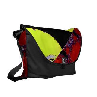 Design Patchwork Lime Green Design Messenger Bag