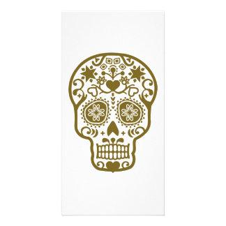 Design pattern skull custom photo card
