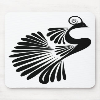 Design peacock mouse pad