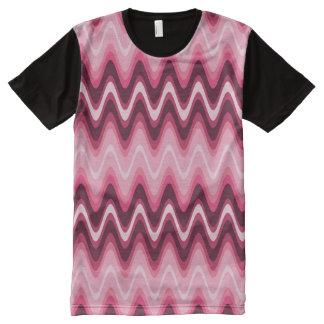 Design Pink Wave Modern Shirt
