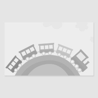 Design rectangle with Train Rectangular Sticker