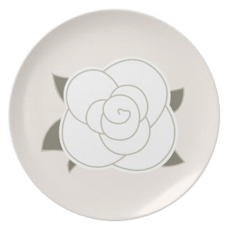 Design rose brown eco plate