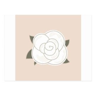 Design rose brown eco postcard