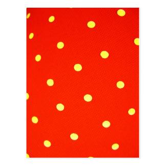 Design Simple round circle Style Fashion Dots Polk Postcard