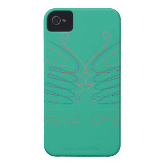 Design wings blue ethno iPhone 4 cover
