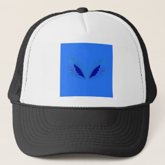 Design wings blue ethno trucker hat
