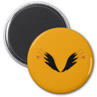 Design wings, gold ethno magnet