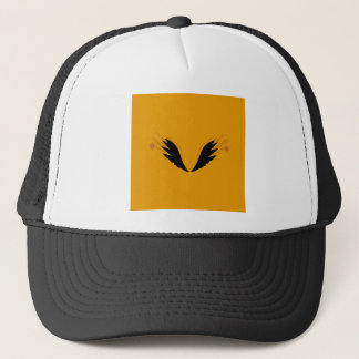 Design wings, gold ethno trucker hat