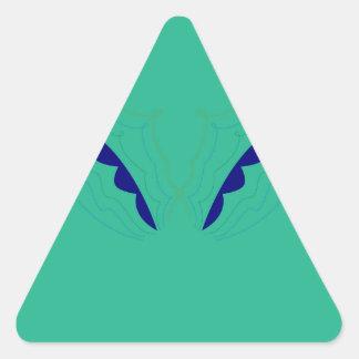 Design wings green eco triangle sticker