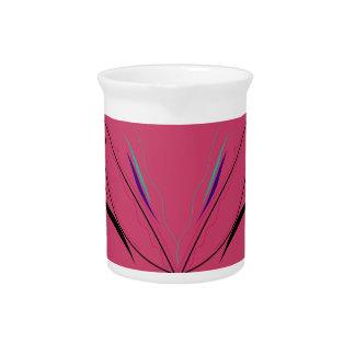 Design wings on pink pitcher