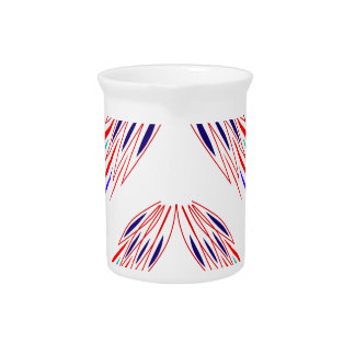 Design wings  on white pitcher