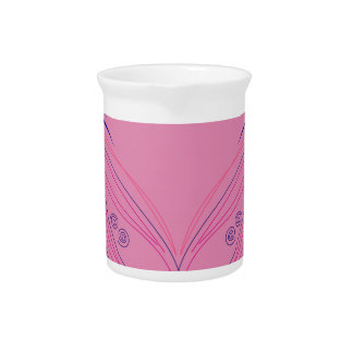Design wings pink ethno pitcher