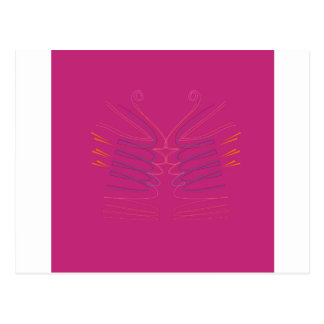 Design wings pink ethno postcard