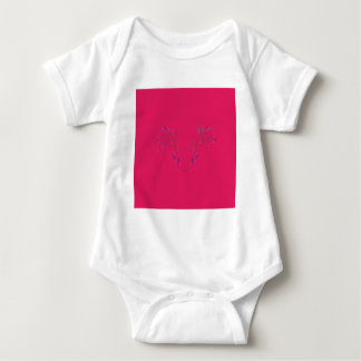 Design wings red Eco Baby Bodysuit