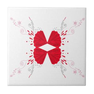 Design wings Tattoo on white Ceramic Tile