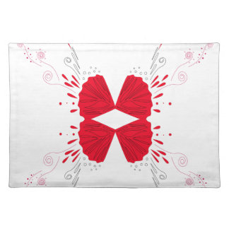 Design wings Tattoo on white Placemat